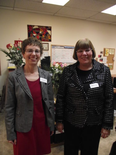 Diane Altwasser and Yvonne Schmitz, two very dedicated Women's Centre supporters, both finished serving five year terms as Board Members in 2012. They will continue supporting the Centre as committee members.Thank-you to both of you for your hard work!