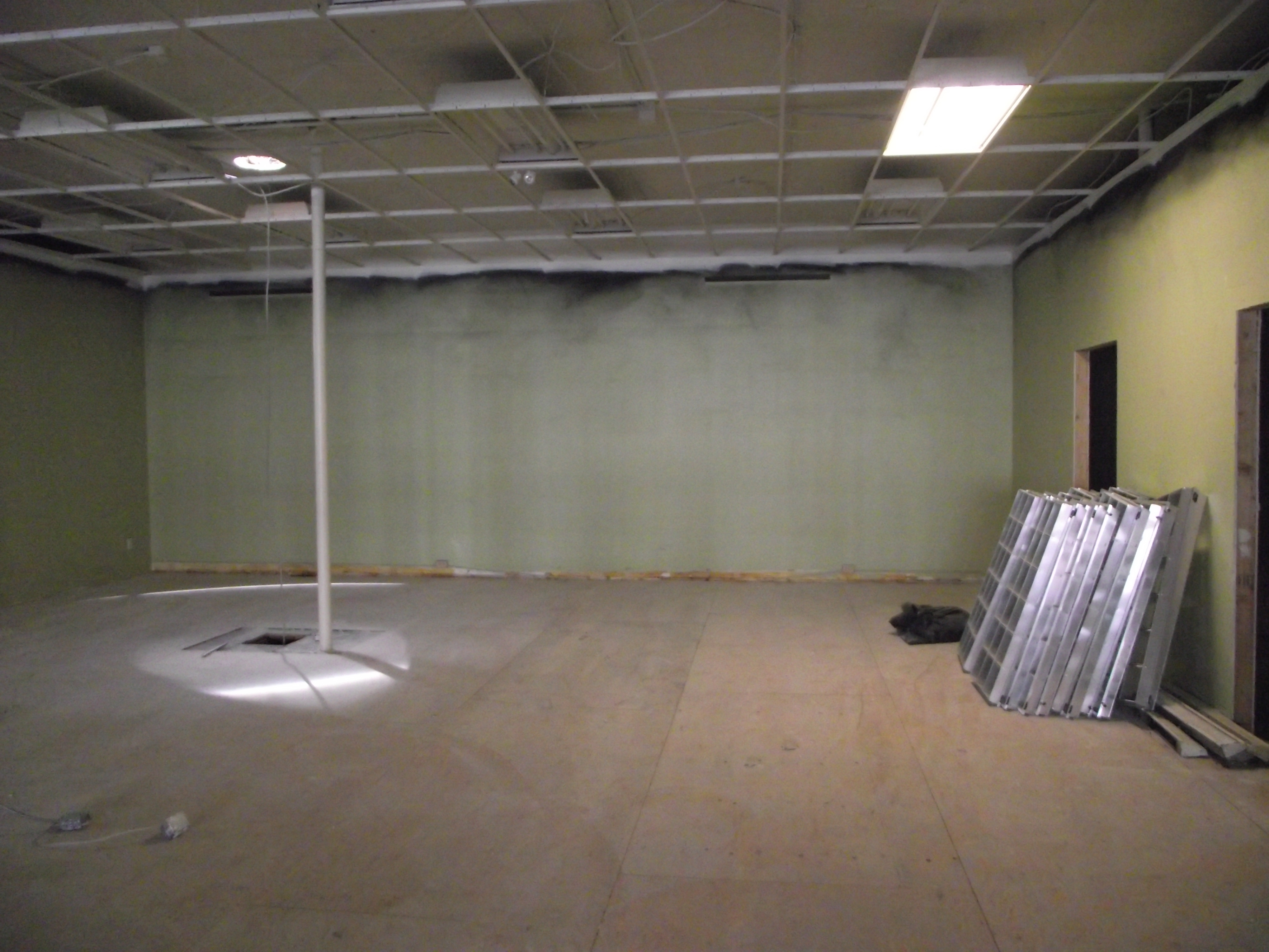 Our new workshop space.