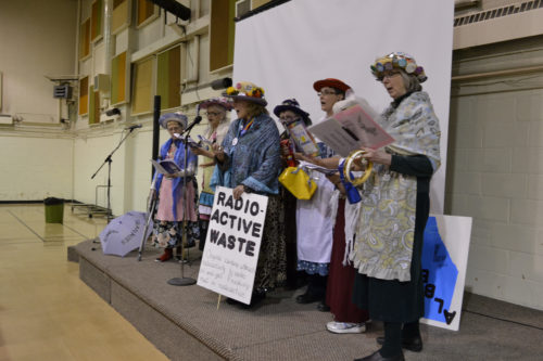 The Raging Grannies at the Women's Centre IWD 2014 potluck.