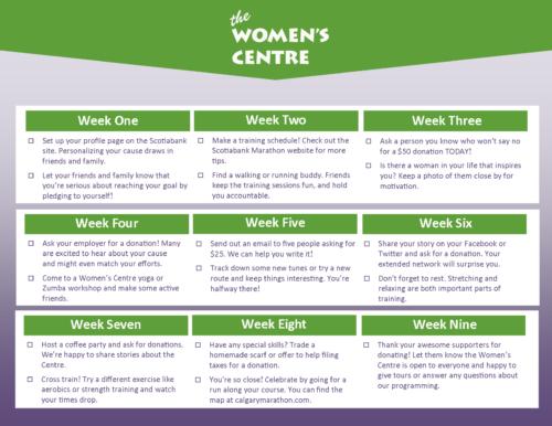 Marathon Tips Calendar