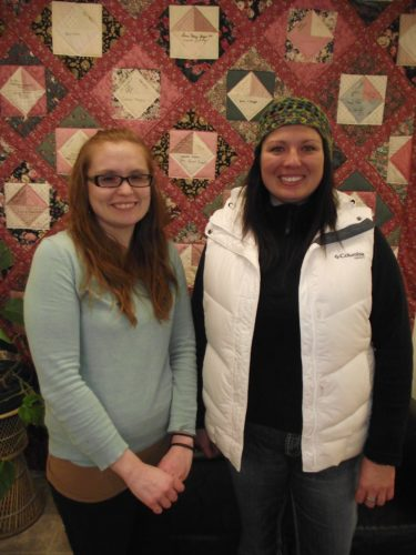 Women's Centre Volunteers, Bailee (left) and Tiffany (right)