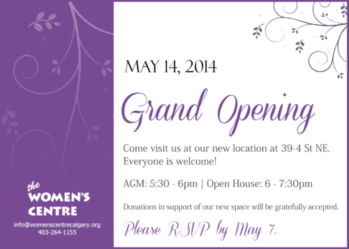 Women's Centre's Grand Opening
