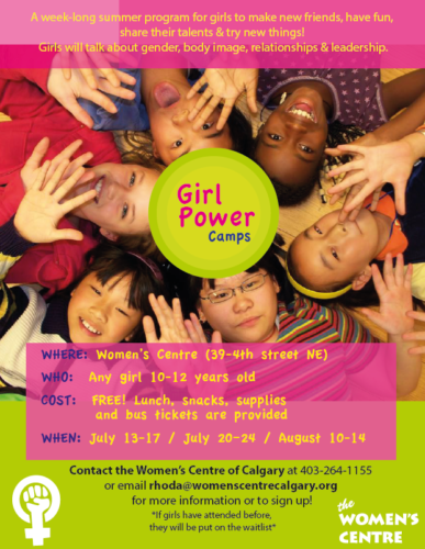 Girl Power Camp Poster